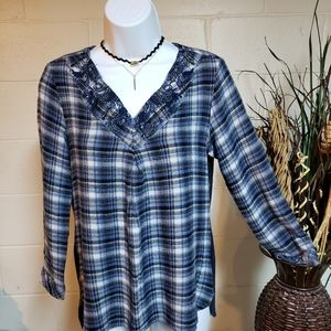 Christopher and Banks Flannel Top